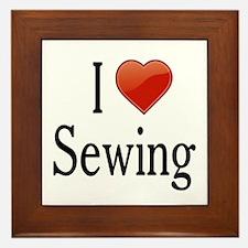 I Love Sewing Framed Tile