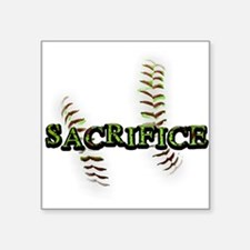 "Sacrifice Fastpitch Softball Square Sticker 3"" x 3"