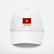 Grunge Vietnam Flag Baseball Baseball Cap