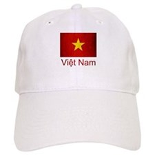 Grunge Vietnam Flag Baseball Cap