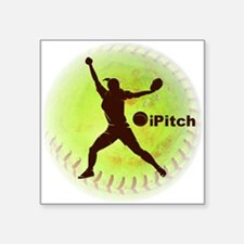"iPitch Fastpitch Softball Square Sticker 3"" x"