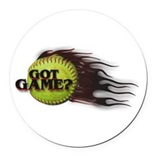 Got Game Fastpitch Softball Round Car Magnet