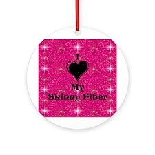 I Love My Skinny Fiber Ornament (Round)