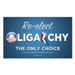 Re-elect Oligarchy Sticker (Rectangle)