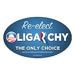 Re-elect Oligarchy Sticker (Oval 10 pk)