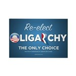 Re-elect Oligarchy Rectangle Magnet