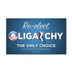 Re-elect Oligarchy Rectangle Car Magnet