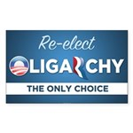 Re-elect Oligarchy Sticker (Rectangle 10 pk)