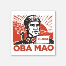 "Obamao Square Sticker 3"" x 3"""