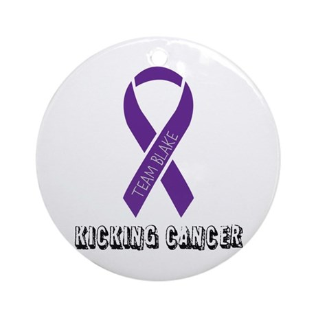 TEAM BLAKE KICKING CANCER Ornament (Round)