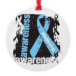 Grunge Prostate Cancer Round Ornament