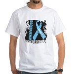 Grunge Prostate Cancer White T-Shirt