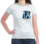 Grunge Prostate Cancer Jr. Ringer T-Shirt