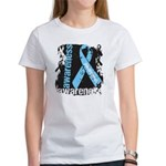 Grunge Prostate Cancer Women's T-Shirt