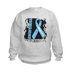 Grunge Prostate Cancer Kids Sweatshirt