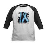 Grunge Prostate Cancer Kids Baseball Jersey