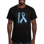 Grunge Prostate Cancer Men's Fitted T-Shirt (dark)