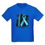 Grunge Prostate Cancer Kids Dark T-Shirt