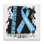 Grunge Prostate Cancer Tile Coaster