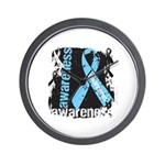 Grunge Prostate Cancer Wall Clock