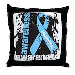 Grunge Prostate Cancer Throw Pillow