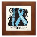 Grunge Prostate Cancer Framed Tile