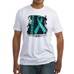 Grunge Ovarian Cancer Fitted T-Shirt