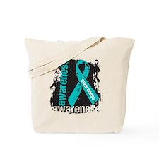 Grunge Ovarian Cancer Tote Bag
