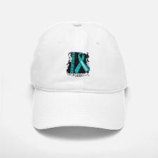Grunge Ovarian Cancer Baseball Baseball Cap