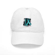 Grunge Ovarian Cancer Baseball Cap