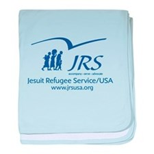 the JRS/USA logo in blue baby blanket