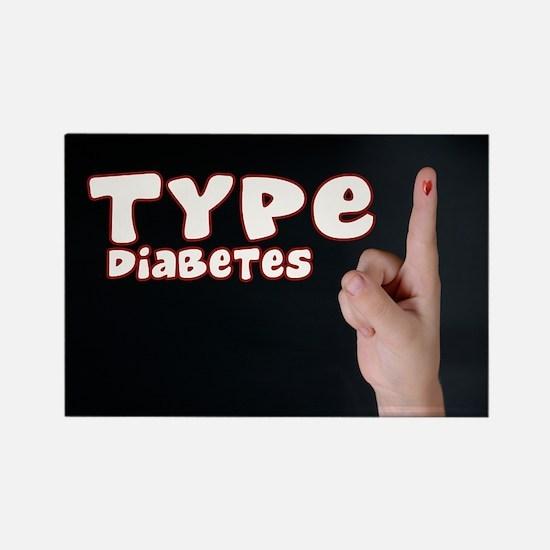 Type 1 Diabetes Rectangle Magnet