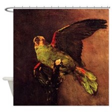 Van Gogh The Green Parrot Shower Curtain