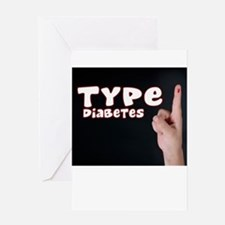 Type 1 diabetes Greeting Card