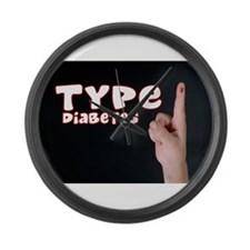 Type 1 Diabetes Large Wall Clock