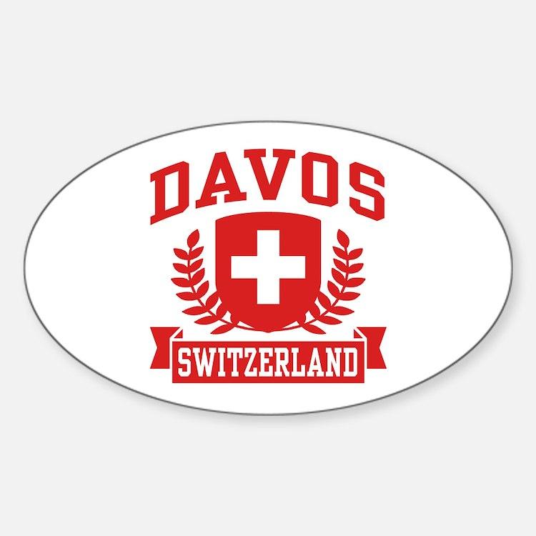 Davos Switzerland Sticker (Oval)