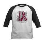 Grunge Multiple Myeloma Kids Baseball Jersey