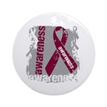 Grunge Multiple Myeloma Ornament (Round)