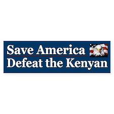 Save America Defeat the Kenyan Car Sticker