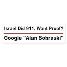 Google Alan Sobraski Bumper Sticker