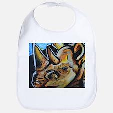Abstract White Rhino Bib