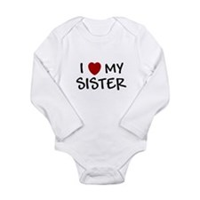 Cute Baby sister Long Sleeve Infant Bodysuit