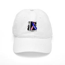 Grunge Male Breast Cancer Baseball Baseball Cap