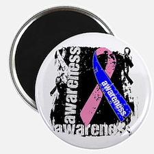 "Grunge Male Breast Cancer 2.25"" Magnet (100 pack)"