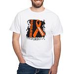 Grunge Leukemia White T-Shirt