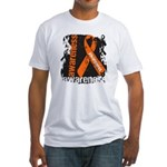 Grunge Leukemia Fitted T-Shirt