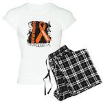 Grunge Leukemia Women's Light Pajamas