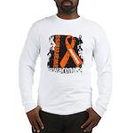 Grunge Leukemia Long Sleeve T-Shirt