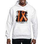 Grunge Leukemia Hooded Sweatshirt