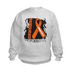 Grunge Leukemia Kids Sweatshirt